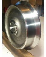 """6"""" Light Duty Steel Rail Wheel Assembly Single Flange With 44643 Bearing And Stub Axle"""
