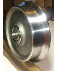 "12"" Medium Duty Steel Rail Wheel Assembly Single Flange With Bearing And Stub Axle"