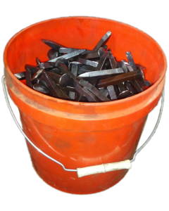 "3/8"" x 3"" Track Spikes 50 lb Pail"