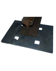 "40 lb Single Shoulder Rail Tie Plate 3/8"" Thick"